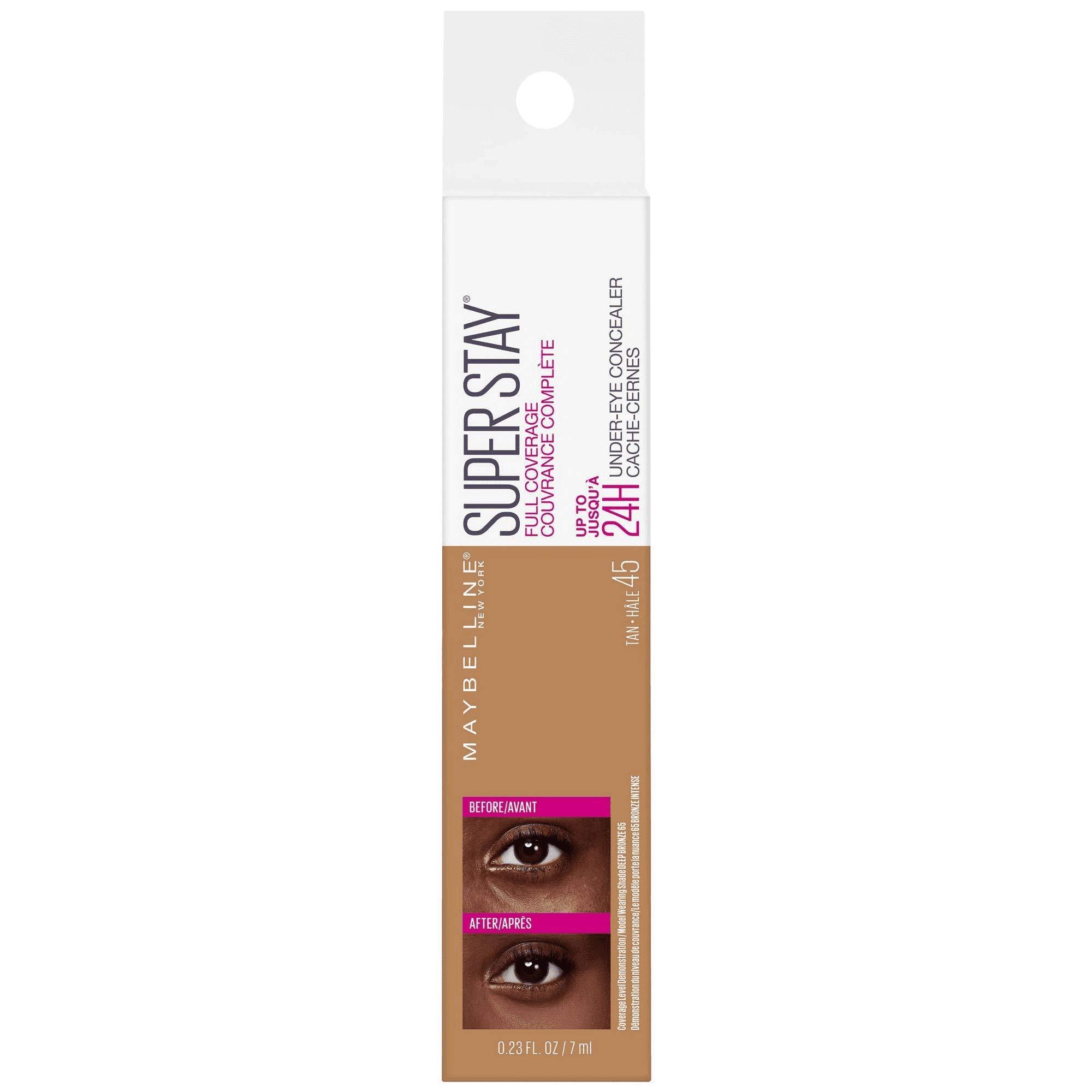 Super Stay Full Coverage Long Lasting Under-Eye Concealer, 45 Tan, 0.23 fl oz (Pack of 2)