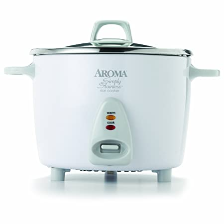 Aroma Housewares Simply Stainless 14 Cup (Cooked)  (7 Cup Uncooked) Rice Cooker, Stainless Steel Inner Pot (Arc 757 Sg) by Aroma Housewares