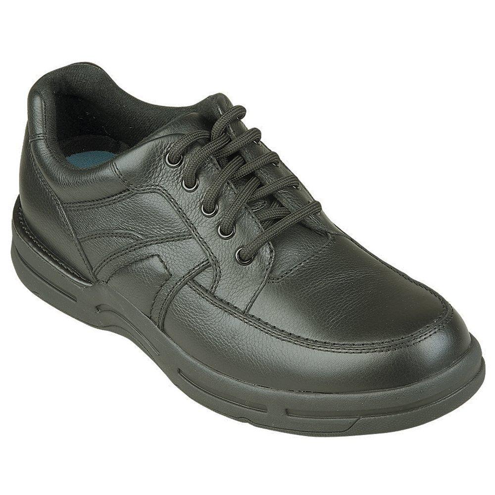 InStride Dakota Men's Comfort Therapeutic Extra Depth Casual Shoe leather lace-up 9.0 X-Wide (4E) Black Lace US Men Black