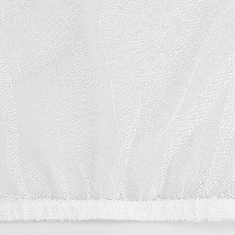 Protection Contre Les Insectes pour Berceau Blanc 145 x 82,5 x 74 cm com-four/® Protection Anti-Insectes pour Berceau avec /élastique 01 pi/èce - lit moustiquaire