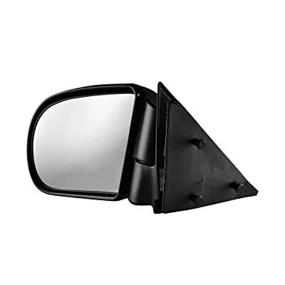 Driver Side Textured Side View Mirror for 94-04 GMC Sonoma & Chevrolet S10, 96-04 Oldsmobile Bravada, 02-05 GMC Envoy & Envoy XL, 95-05 GMC Jimmy - GM1320208: Automotive