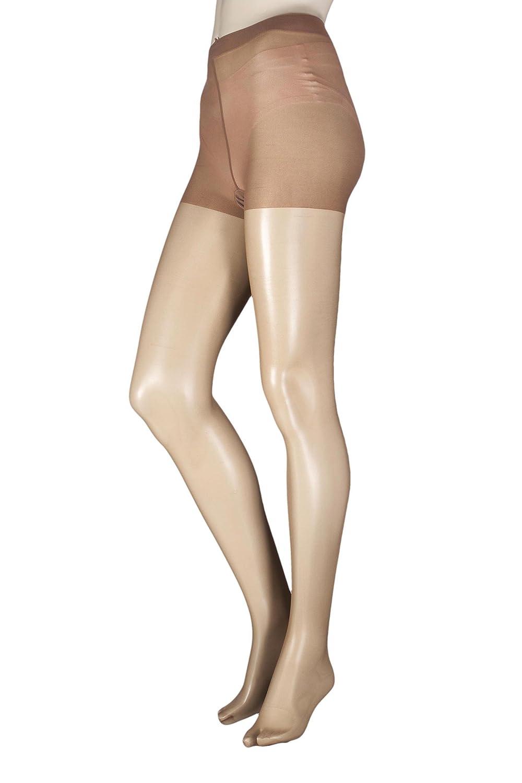 c9e2964d4bc31 Damen 1 Paar Pretty Legs for SockShop 10 Denier Klassisches Nylon  Strumpfhose Bronze Groß/Extra