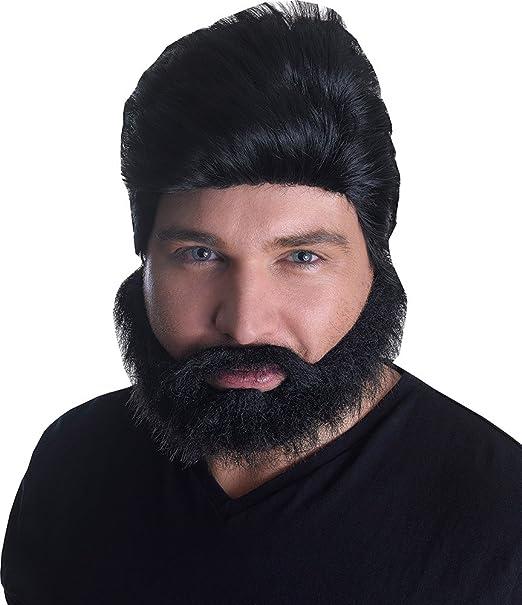 Hombre Disfraz PHOENIX EUROVISION Pop Star Peluca + Barba Set