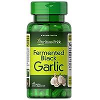 Puritan's Pride Fermented Black Garlic, 60 Capsules by Puritan's Pride, 60 Count