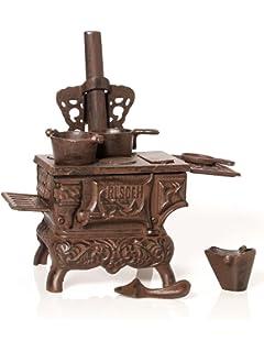 Nostalgia estufa de hierro chimenea horno muñeca estilo antiguo Dollhouse