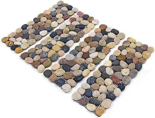 Greenfields - Juego de 4 Tiras de Piedra para jardín con Bordes de Piedras, Ideal para tu jardín, Camino, Entrada, Bordes y como escalones.: Amazon.es: Jardín