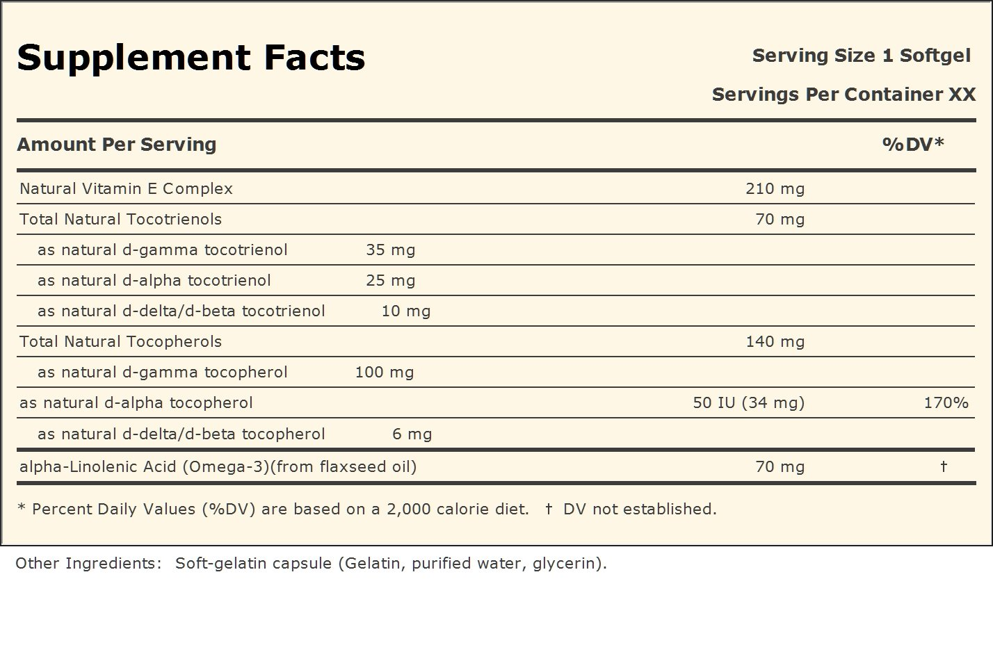 Complete Tocotrienols with Gamma Vitamin E