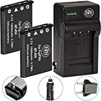 BM Premium 2-Pack of NP-45 Batteries and Charger for Fujifilm FinePix XP20 XP22 XP30 XP50 XP60 XP70 XP80 XP90 T350 T360 T400 T500 T510 T550 T560 JX500 JX520 JX550 JX580 JX590 JX700 JX710 JZ700 Cameras
