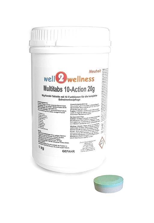 Cloro Mult itabs 10 de acción 20 g con 10 Funciones - 1, 0 kg: Amazon.es: Jardín