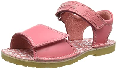 Kickers Girls Infant Kids Adlar SAN Leather Light Pink Leather Sandal Size 5