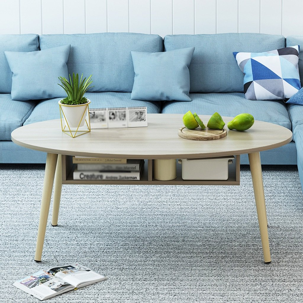 Amazon.com: ZfgG Living Room Coffee Table, Creative Oval Tea ...