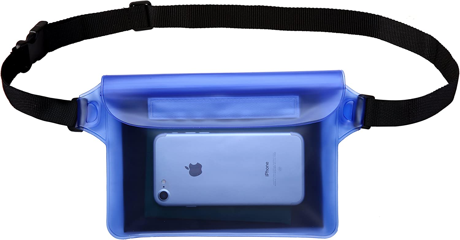 Perfect for Boating Swimming Snorkeling Kayaking Beach Pool Water Parks Best Way to Keep Your Phone and Valuables Safe and Dry Waterproof Pouch with Waist Strap