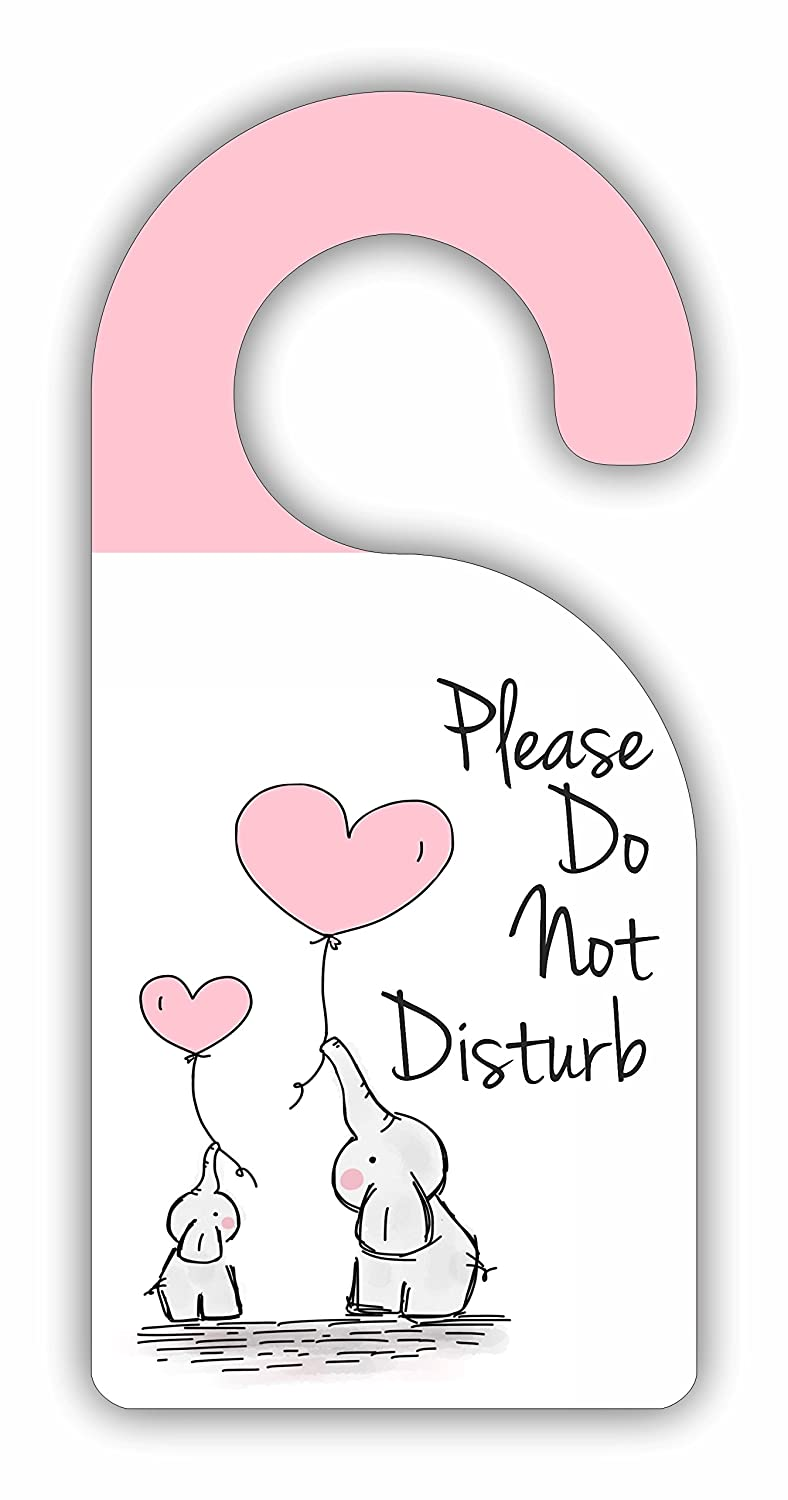 Please Do Not Disturb - Childrens Room/Baby Nursery - Door Sign Hanger - Hardboard - Glossy Finish Jacks Outlet JOI1SDH25