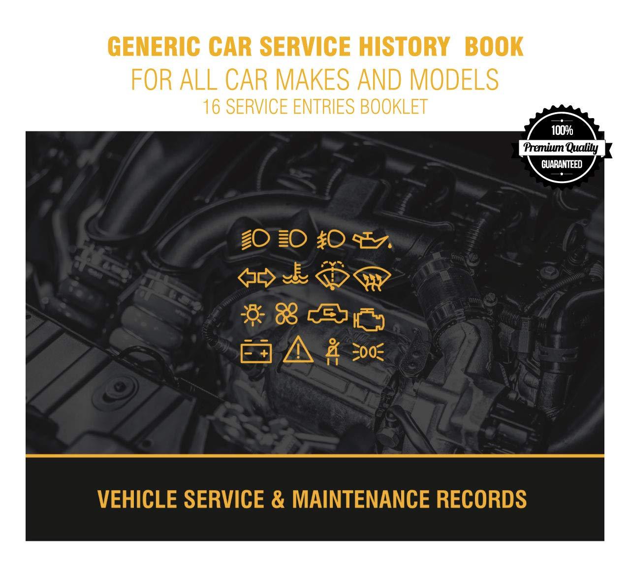 Replacement Generic Service History Book Suitable For Jaguar