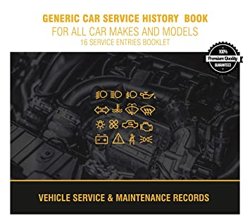 generic car service history maintenance record log book for all car