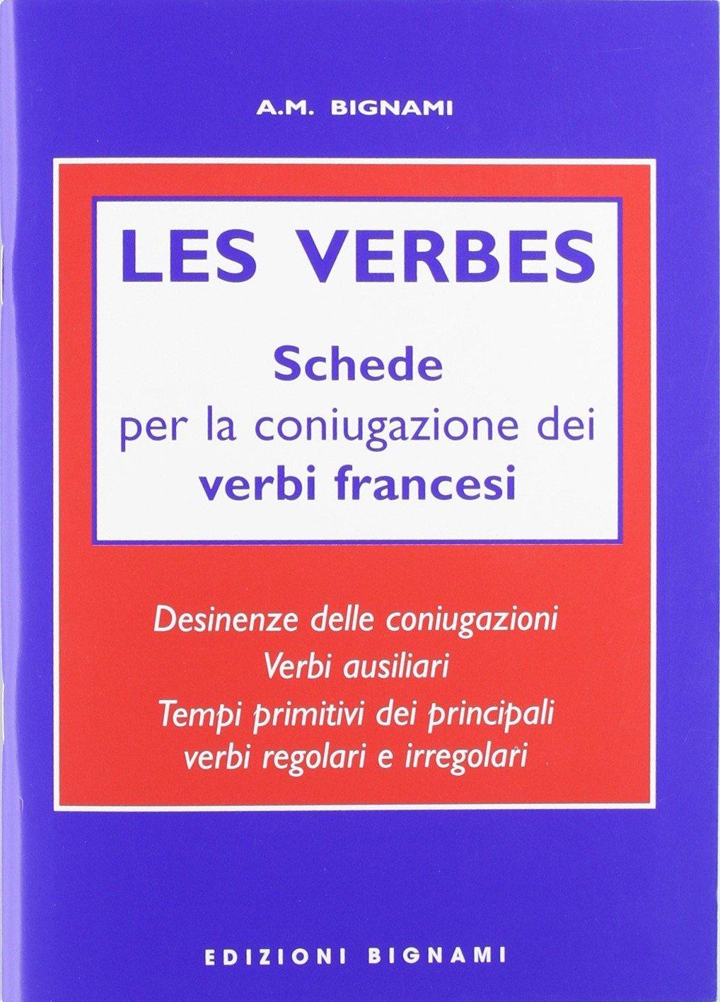 Ben noto Les verbes. Schede per coniugazione verbi francesi. Ediz. italiana  AD84