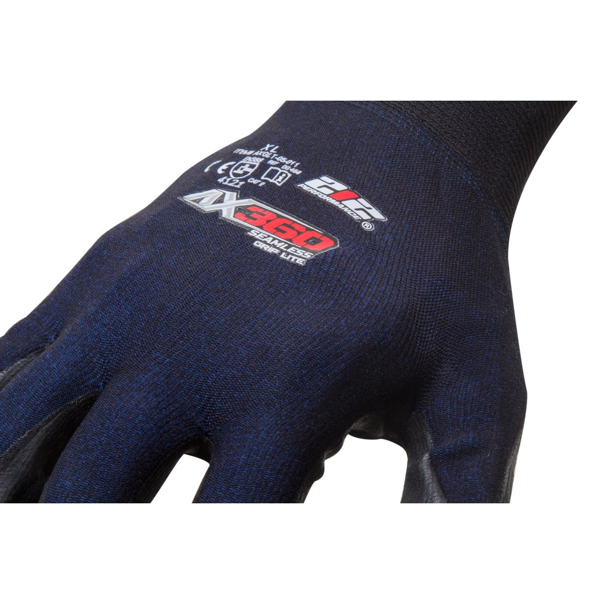 212 Performance Gloves AXGLT-05-010 AX360 Grip Lite Nitrile-dipped Work Glove, 12-Pair Bulk Pack, Large by 219 Performance Gloves (Image #4)