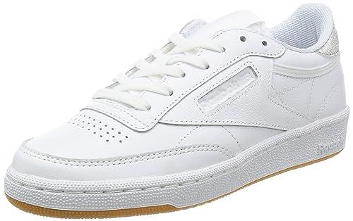 f1a806af9c7888 Reebok Club C 85 Diamond Damen Sneaker Weiß  Amazon.de  Schuhe ...