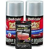 Dupli-Color Silver Streak Mica (Metallic) Exact-Match Automotive Paint for Toyota Vehicles - 8 oz, Bundles Prep Wipe (3 Items