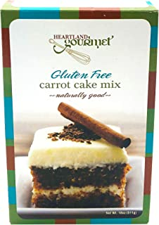 product image for Heartland Gourmet: Gluten Free Carrot Cake Mix - Soft and Moist - Real Carrots - Certified Gluten Free Ingredients - All Purpose - Safe for Celiac Diet