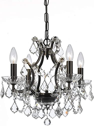 Crystorama 4454VZCLMWP Four Light Mini Chandelier Filmore Vibrant Bronze