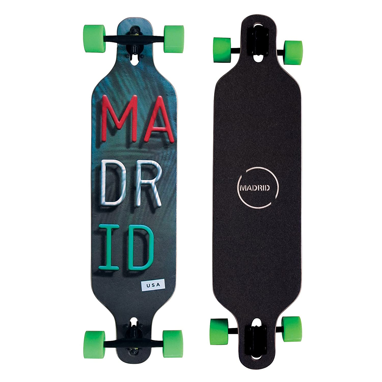 Madrid Twin-Tip Longboard Trance DT Miami 39 Drop-Through Komplettboard Freeride Cruiser Board 99cm