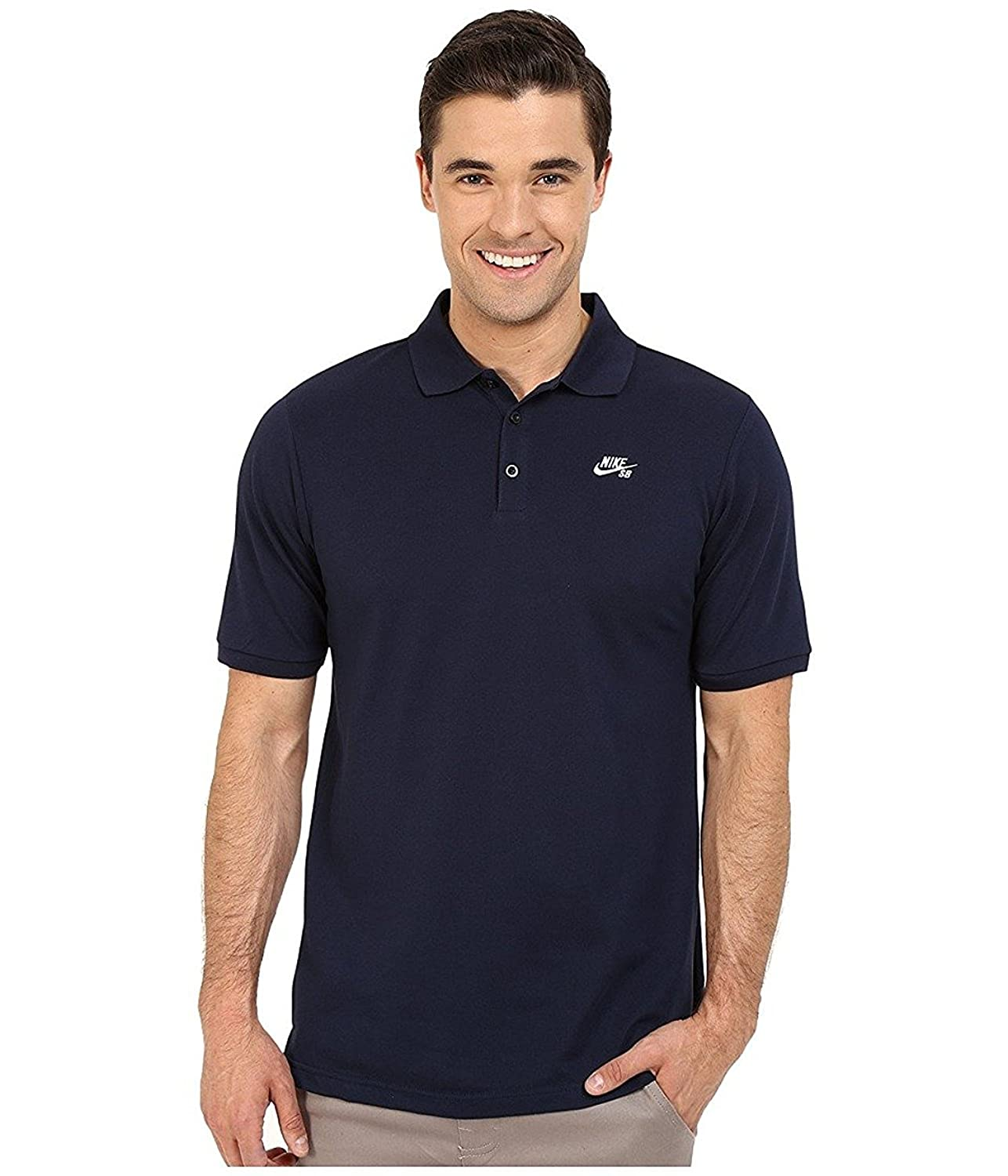 Nike SB Mens Dri-Fit Pique Polo Navy Blue