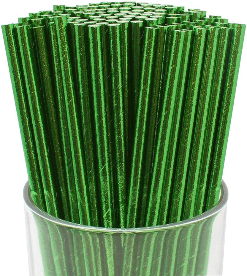 50, 5 MM Diameter NO Sogginess Ideal ALTERNTIVE to Plastic Straws| Pack of 50 /& 100 PCS DISPOSABLE GREEN/®| Unique Palm Leaf Straws Home Compostable Biodegradable