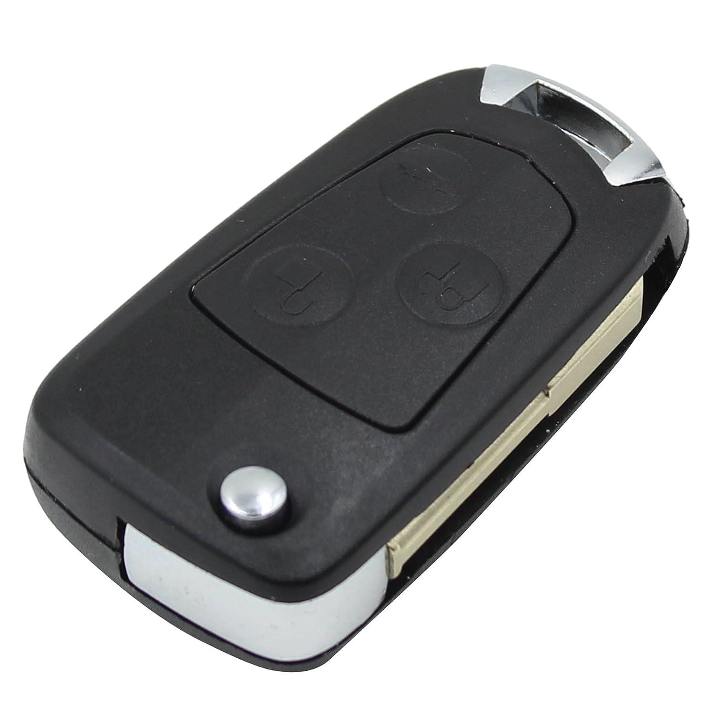 Reemplazo de 3 botones con tapa plegable y llave trasera Funda para Ford Focus Mondeo Fiesta Focus Transit