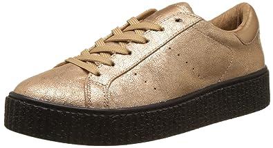 No Name Picadilly Sneaker Hot, Baskets Basses Femme (Nacre Sole Black), 36 EU