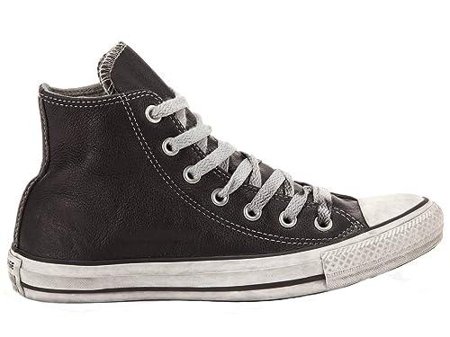 CONVERSE HOMBRE 1C14FA31 NEGRO CUERO ZAPATILLAS ALTAS: Amazon.es: Zapatos y complementos