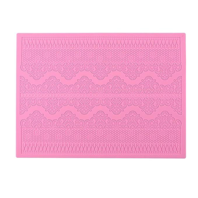 BESTOMZ Molde Silicona Fondant Flor de Encaje para hacer tarta pastel (rosa): Amazon.es: Hogar
