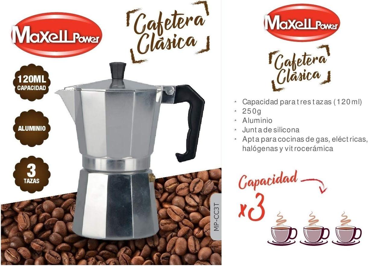 CAFETERA Italiana CL/ÁSICA Aluminio CAF/É Junta Silicona 4 Modelos Tazas Cocina 3 Tazas