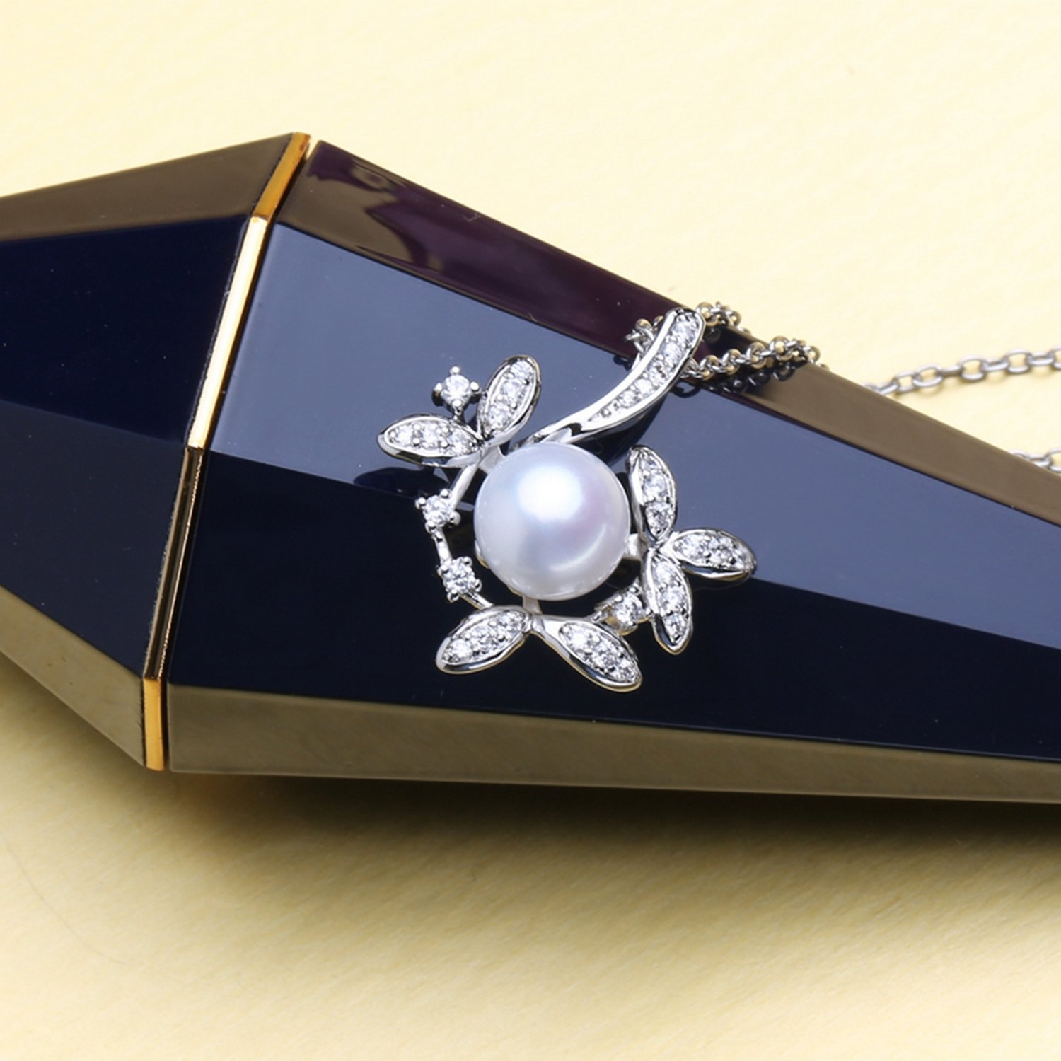 MMC Womens Necklaces Pendants Pearl Jewelry Flower Silver Jewelry