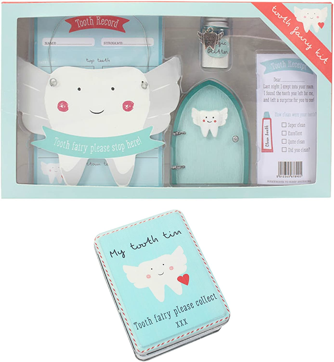 Tooth Fairy Tin Kids Fun Teeth Children/'s Gift Decorative  Box My Tooth Tin