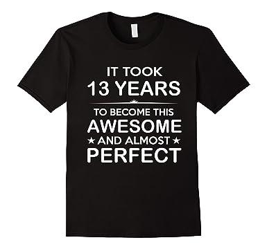 Mens Thirteen 13 Year Old 13th Birthday Gift Ideas For Boy Girl 2XL Black
