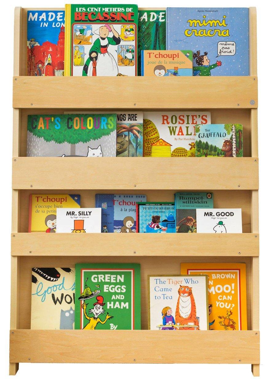 Tidy Books® - Das Originale Kinder-Bücherregal in Natur - Buchcover Werden präsentiert - Schmales Regal fürs Kinderzimmer - Ideale Kinderbücher Aufbewahrung - 115 x 77 x 7 cm