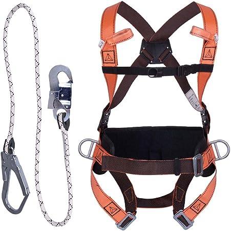 Kit de seguridad de lujo con arnés de cuerpo completo y cordón de ...