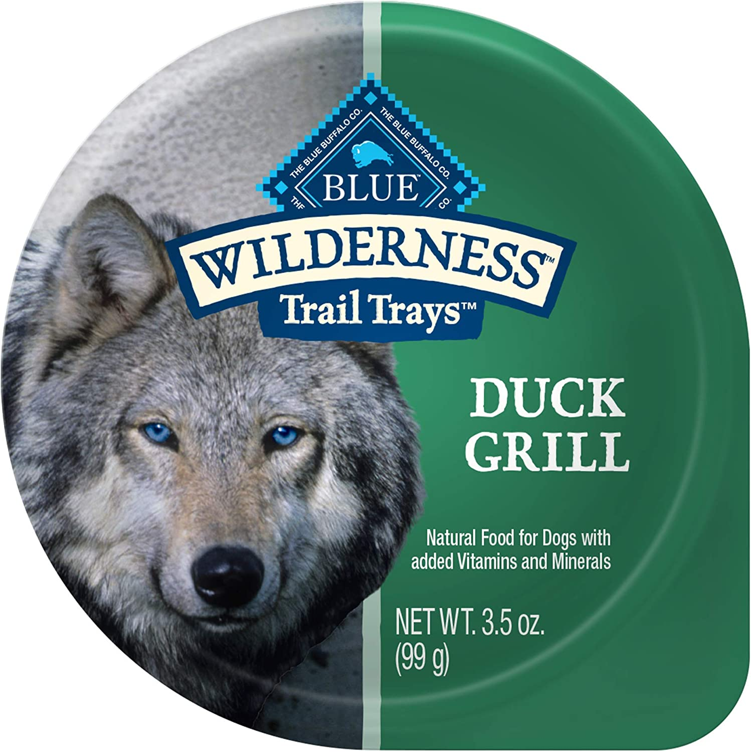 Blue Buffalo Wilderness Trail Trays High Protein, Natural Adult Wet Dog Food Cups, Duck Grill 3.5-oz (Pack of 12)