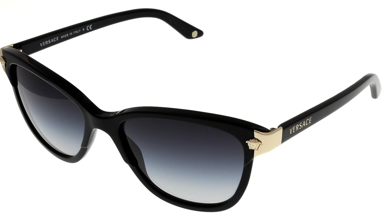 e480527fa015 Versace Sunglasses Womens Cat Eye Black VE4228 GB1 8G  Amazon.co.uk   Clothing