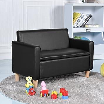 Costway Kids Sofa Storage Children Armchair Single Double Seater