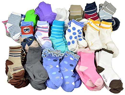 TeeHee Socks 50 Pairs Various Sample Socks Valuable Packs (Kids 12-18 Months ) 7f6e5e960