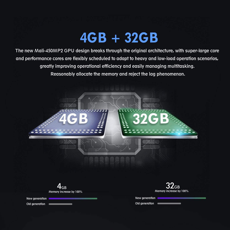 Winnovo 4K Android 9.0 TV Box, Magic 3rd Ultra HD 4GB RAM 32GB ROM Smart TV Streaming Player ARM 64 Bits Quad Core Processore, Supporto H.265/WiFi/USB/HDMI