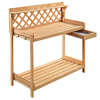 Super Amazon Com Fdinspiration Wood Planting Work Station Table Gmtry Best Dining Table And Chair Ideas Images Gmtryco