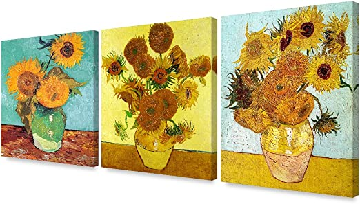 Six Sunflowers by van Gogh Wall Art Repro Made in U.S.A Giclee Prints
