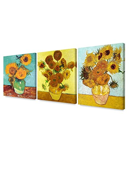 c254b1014ee20a Image Unavailable. Image not available for. Color  DECORARTS - Triptych (Van  Gogh Sunflowers Series)