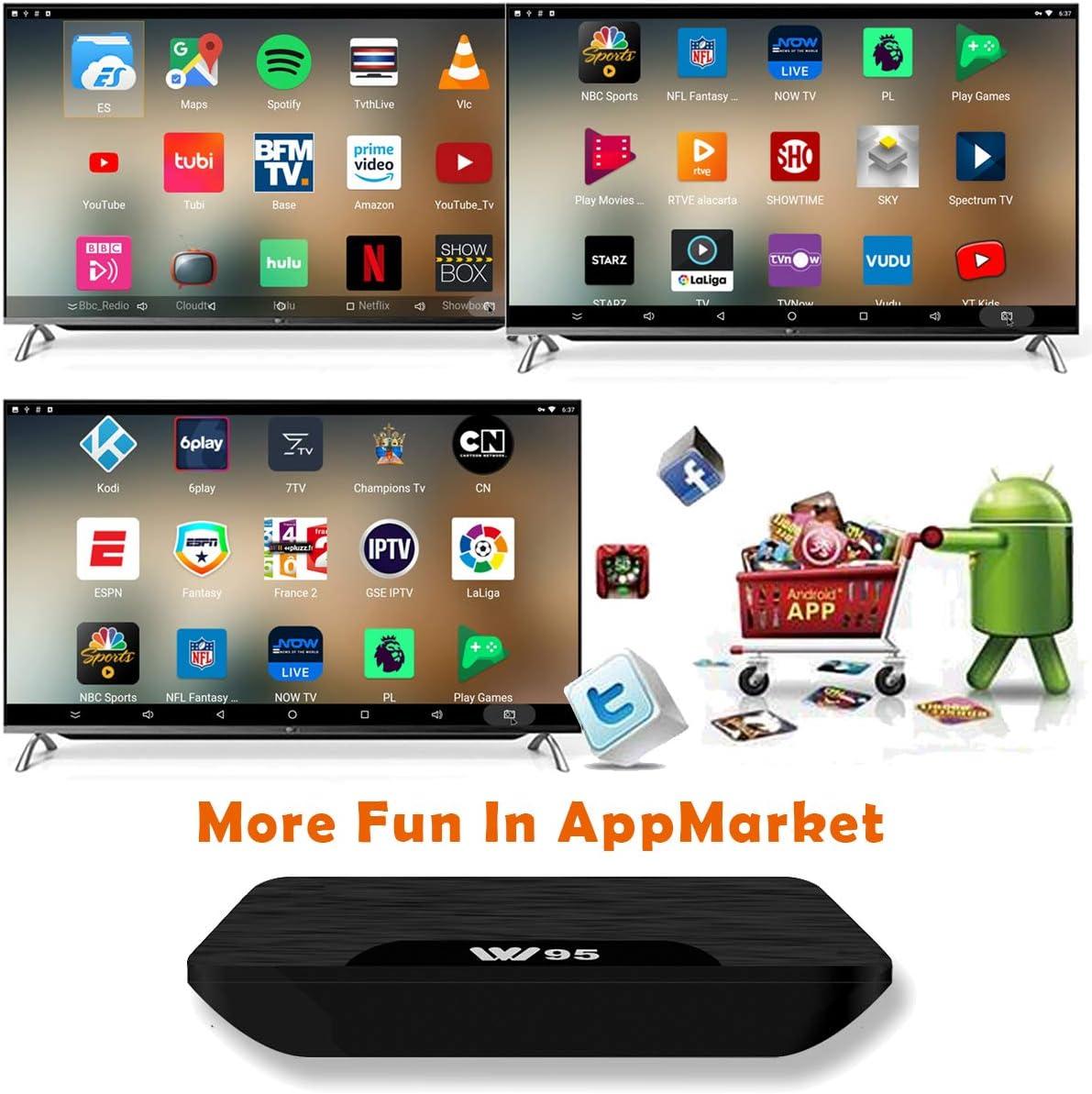 USB HDMI WiFi Lecteur Multim/édia pour Divertissement /à Domicile 2Go RAM /& 16Go ROM 4K UHD H.265 TV Box Android 7.1 VIDEN W2 Smart TV Box Derni/ère Amlogic S905X Quad-Core Version am/élior/ée