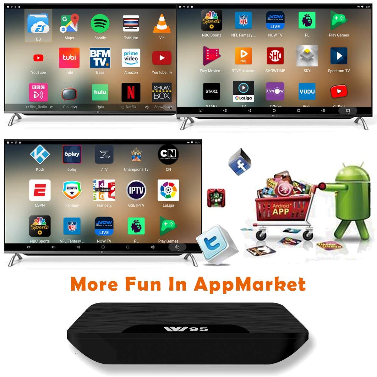 TV Box Android 7.1 Mini Clavier sans Fil VIDEN W2 Smart TV Box Derni/ère Amlogic S905X Quad-Core 4K UHD H.265 HDMI USB WiFi Lecteur Multim/édia Version am/élior/ée 2Go RAM /& 16Go ROM