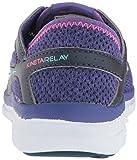 Saucony Girls' Kineta Relay Sneaker, Blue, 1 Medium