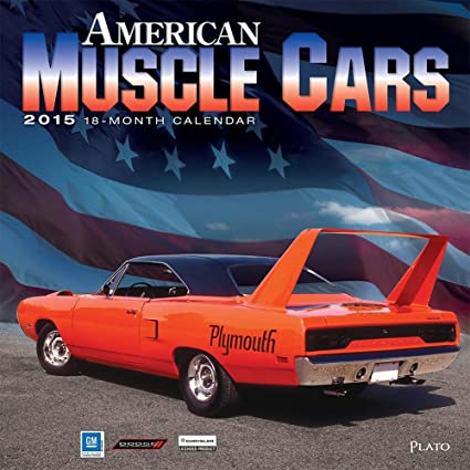 Amazon.com : American Muscle Cars 2015 Wall Calendar : Office Products